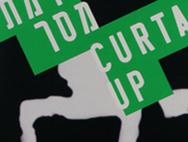 Curtain Up | Dance festival design - logo, poster, postcards, booklet