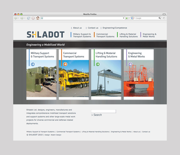 Shladot Ltd website homepage | brand web design